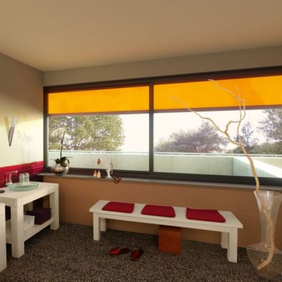 Fenstermarkise orange