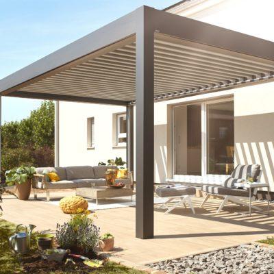 Aluminium Terrassendach mit Lamellen